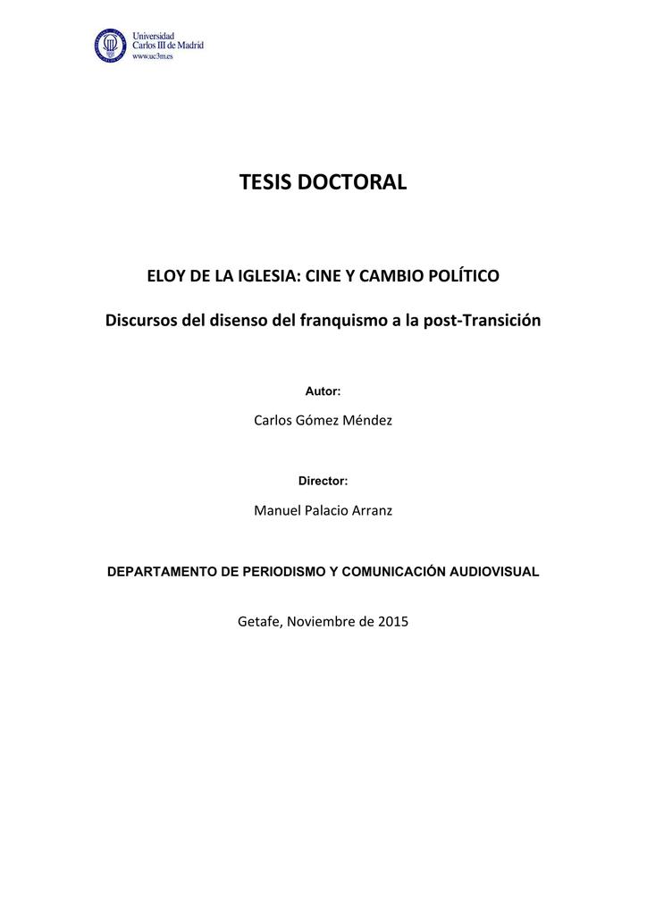 Tesis Doctoral Eloy De La Iglesia Cine Y Cambio