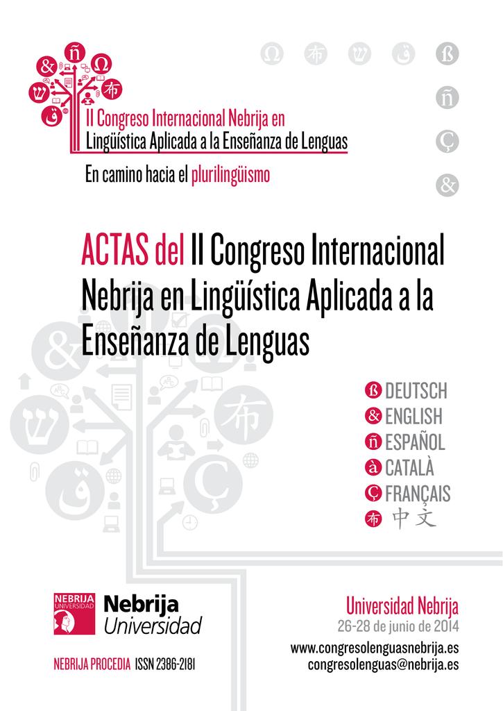 Actas del II Congreso Internacional Nebrija en Lingüística