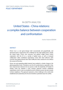 China relations: a complex balance between cooperation and