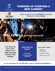 THINKING OF STARTING A NEW CAREER?