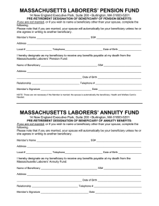 MASSACHUSETTS LABORERS` PENSION FUND