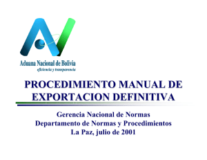 procedimiento manual de exportacion definitiva