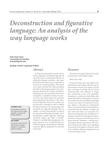 Deconstruction and figurative language