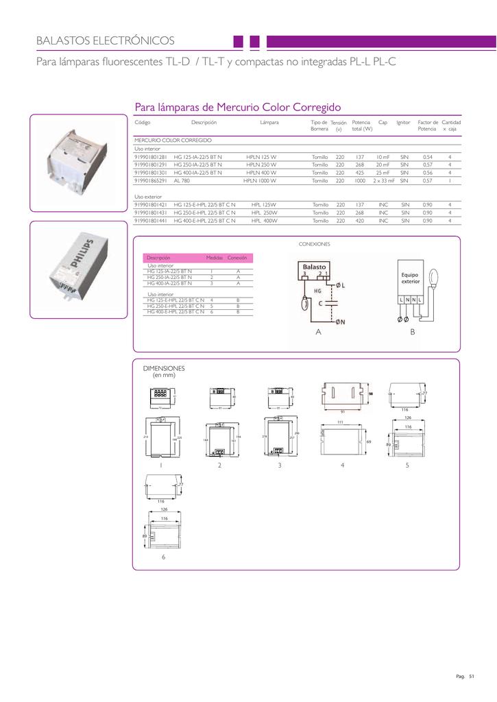 fluorescentes Para TL BALASTOS lámparas ELECTRÓNICOS P0k8ONnZwX