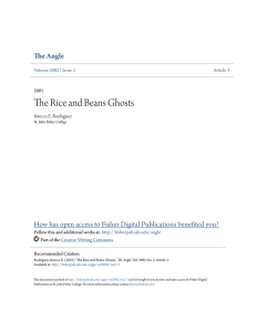 The Rice and Beans Ghosts - Fisher Digital Publications