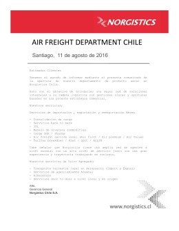 Comunicado Air Freight Norgistics Chile
