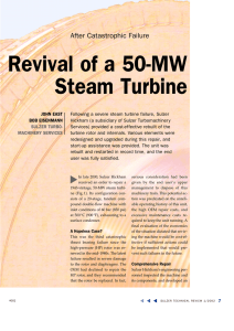 Revival of a 50-MW Steam Turbine