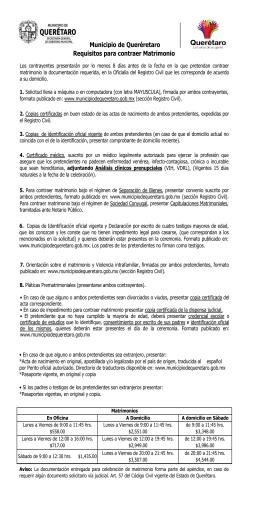 Requisitos para contraer matrimonio 2016 - Requisitos para casarse ...