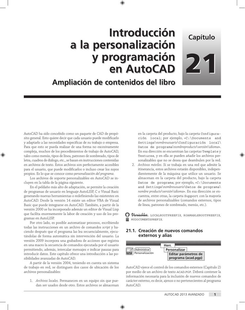 Introducción a la personalización y programación en AutoCAD