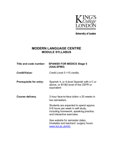 modern language centre module syllabus