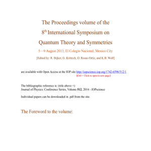 The Proceedings volume of the 8th International Symposium on