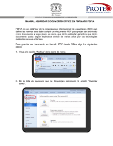 MANUAL: GUARDAR DOCUMENTO OFFICE EN FORMATO PDF/A