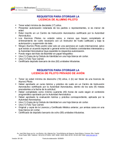 Requisitos Licencia Piloto Avión