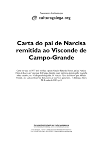Carta do pai de Narcisa remitida ao Visconde