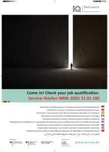 Come in! Check your job qualification. Service-Telefon