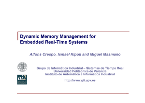 Dynamic Memory Management for Embedded Real