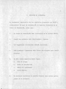 2. REVISIÓN DE LITERATURA De fundamental importancia son los