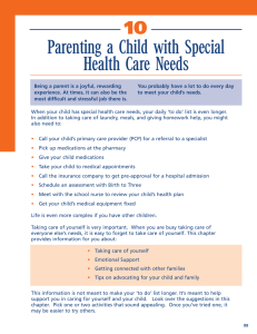 Parenting a Child with Special Health Care Needs