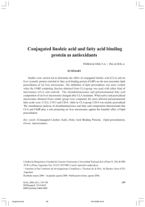 Conjugated linoleic acid and fatty acid binding protein as antioxidants