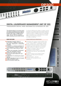 digital loudspeaker management unit dp 300