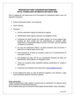 Instrucciones para licencia de matrimonio - Requisitos para casarse ...