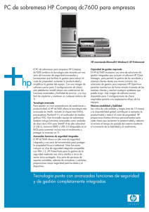 HP Commercial PC Datasheet