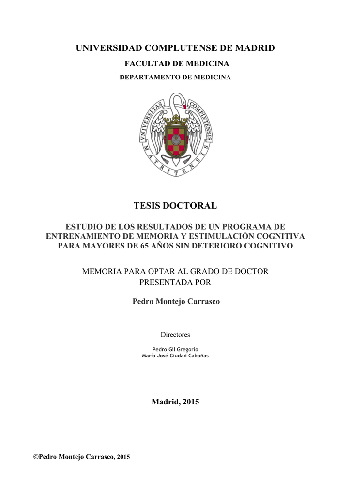 universidad complutense de madrid tesis doctoral - E