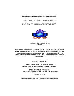 UNIVERSIDAD FRANCISCO GAVIDIA.