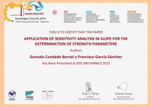 APPLICATION OF SENSITIVITY ANALYSIS IN SLOPE FOR THE
