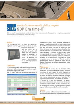 SDP Era time-IT