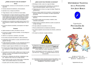 Folleto de Capacitacion prevencion de incendios