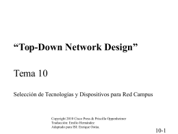 """Top-Down Network Design"" Tema 10"