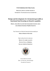 Design and development of a fermented goat milk as functional food
