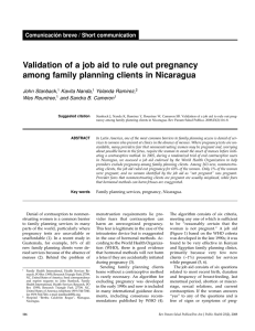 Validation of a job aid to rule out pregnancy among family planning
