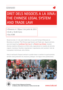 The Chinese Legal System and Trade Law