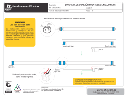 diagrama de conexion tubo led t8 philips