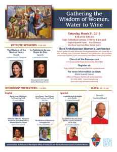 Gathering the Wisdom of Women: Water to Wine