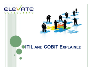 itil and cobit explained - ISACA South Florida Chapter