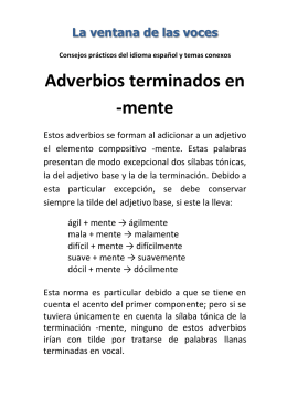EJERCICIOS DEL ADVERBIO – 2