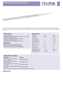 FTTH Flat Drop Cable