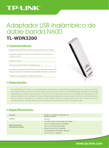 Adaptador USB inalámbrico de doble banda N600