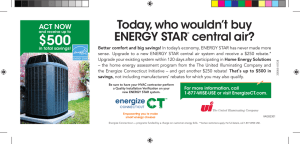 Today, who wouldn`t buy ENERGY STAR® central air?