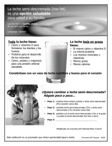 Low Fat Milk - Spanish - Minnesota Department of Health