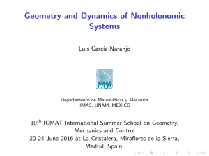 Geometry and Dynamics of Nonholonomic Systems