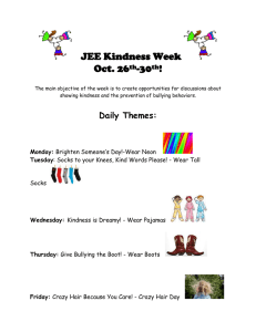 JEE Kindness Week Oct. 26th