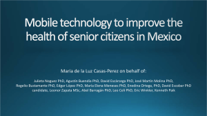 Mobile technology to improve health of senior citizens in