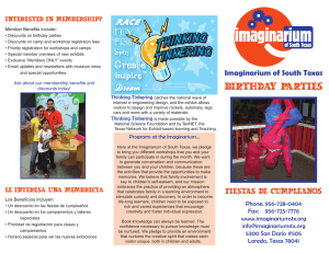 birthday parties - Imaginarium of South Texas