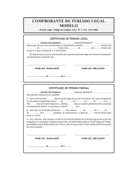 comprobante de feriado legal