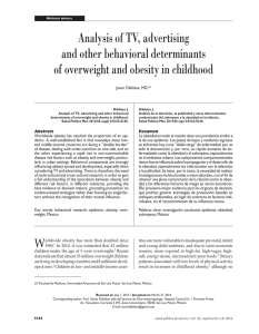 Analysis of TV, advertising and other behavioral determinants of