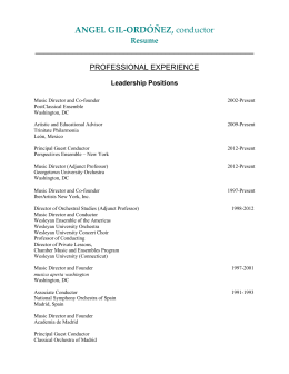 Resume - Chesapeake International Arts